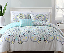 VCNY Home Amherst Reversible 4-Pc. Full/Queen Duvet Cover Set