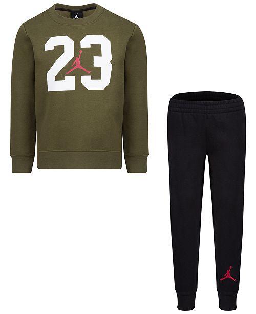 dbac6018540d Jordan Toddler Boys 2-Pc. Textured 23-Print Fleece Top   Pants Set ...