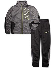 Nike Little Boys 2-Pc. Colorblocked Tricot Track Suit Set
