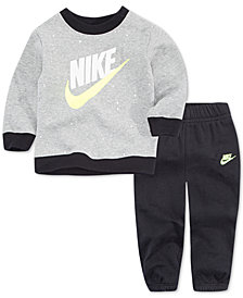 Nike Little Boys 2-Pc. Speckle-Print Fleece Top & Jogger Pants Set