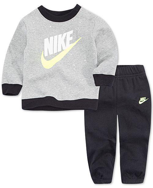 2ee2534dc5 Nike Little Boys 2-Pc. Speckle-Print Fleece Top & Jogger Pants Set ...