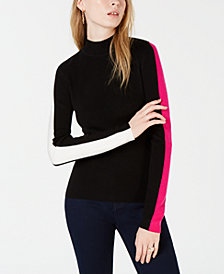 Bar III Varsity-Stripe Pullover Sweater, Created for Macy's