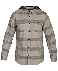 Hurley Men's Country Line 2.0 Classic-Fit Stripe Hooded Shirt