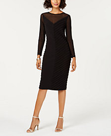 Adrianna Papell Illusion Paneled Dress