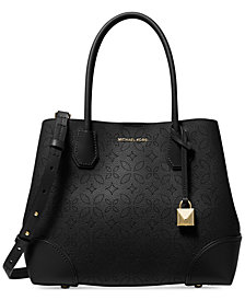 MICHAEL Michael Kors Mercer Gallery Perforated Floral Center Zip Tote