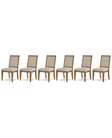 Rachael Ray Everyday Dining, 6-Pc. Set (6 Upholstered Back Side Chairs)