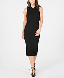 Bar III Open-Back Sweater Dress, Created for Macy's