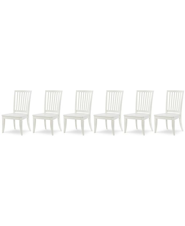 Furniture Rachael Ray Everyday Dining, 6-Pc. Set (6 Slat Back Side Chairs)