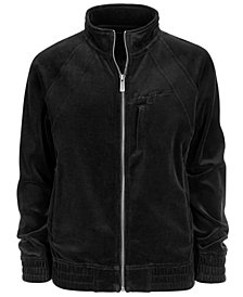Sean John Big Boys Signature Velour Zip-Front Jacket