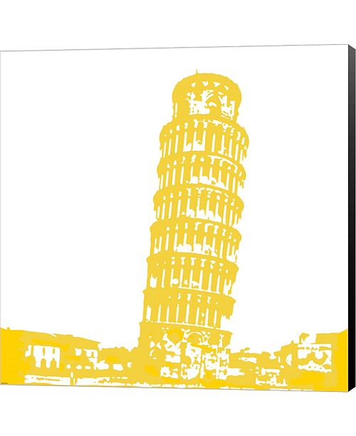 Metaverse Pisa in Yellow by Veruca Salt Canvas Art