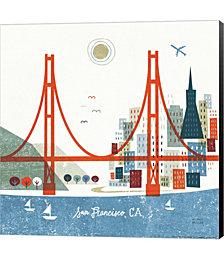 Colorful San Francisco by Michael Mullan Canvas Art