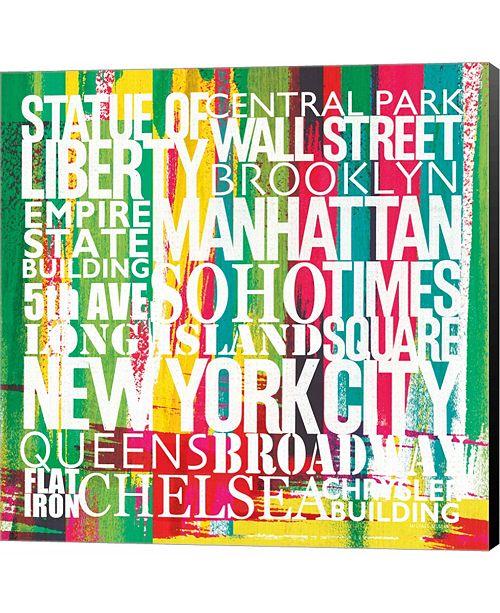 Metaverse New York City Life Patterns VII by Michael Mullan Canvas Art