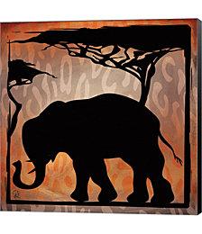Safari Silhouette IV by Pamela Gladding Canvas Art