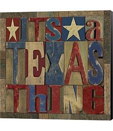 Texas Printer Block III by Tara Reed Canvas Art