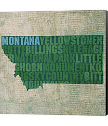 Montana State Words by David Bowman Canvas Art