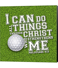 I Can Do All Sports - Golf by Scott Orr Canvas Art