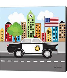 Police Car by Longfellow Designs Canvas Art