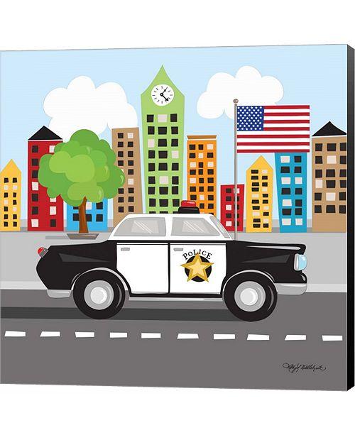 Metaverse Police Car by Longfellow Designs Canvas Art