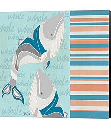 Nautical Whales by Shanni Welsh Canvas Art