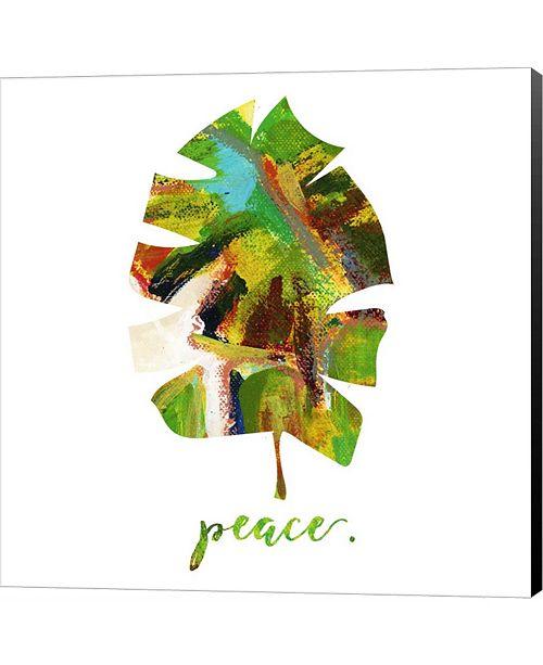 Metaverse Peace Leaf by Pamela J. Wingard Canvas Art