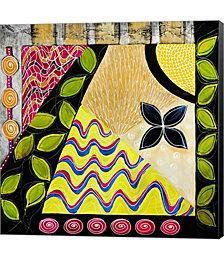 Flower Deco Green II by Annemette Hylleborg Canvas Art
