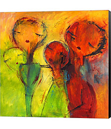 Abstract Faces 2 by Claudia Canvas Art