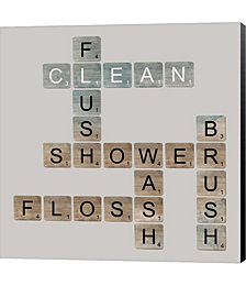 Bathroom Letters by Longfellow Designs Canvas Art