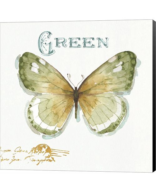 Metaverse My Greenhouse Butterflies IV by Lisa Audit Canvas Art