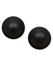 14k Gold Earrings, Onyx Ball Stud Earrings (8mm)
