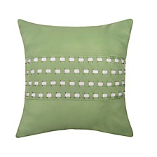 Woven Cord Outdoor Pillow, Lime 18X18