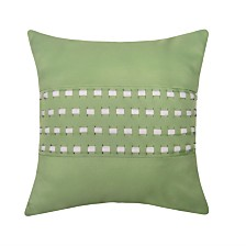 Edie@Home Woven Cord Outdoor Pillow, Lime 18X18