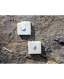 Blue Logic Natural Crystal Massage Soap : Lemongrass Essential Oil, Blue Clay and Blue Quartz