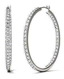 Moissanite Hoop Earrings (2-1/3 ct. t.w. Diamond Equivalent) in 14k White Gold