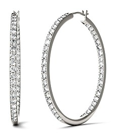 Moissanite Hoop Earrings (2-1/3 ct. t.w. Diamond Equivalent) in 14k White Gold