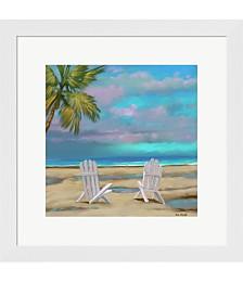 Beach Chairs 1 by Rick Novak Framed Art