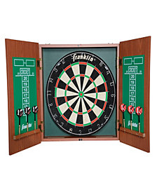 Franklin Sports Bristle Dartboard With Cabinet