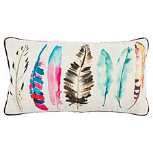 "Rizzy Home White 14"" X 26"" Feathers Poly Filled Pillow"