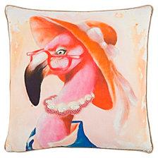 """Mariah Parris 20"""" x 20"""" Flamingo Poly Filled Pillow"""