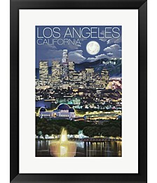 Los Angeles CA by Lantern Press Framed Art