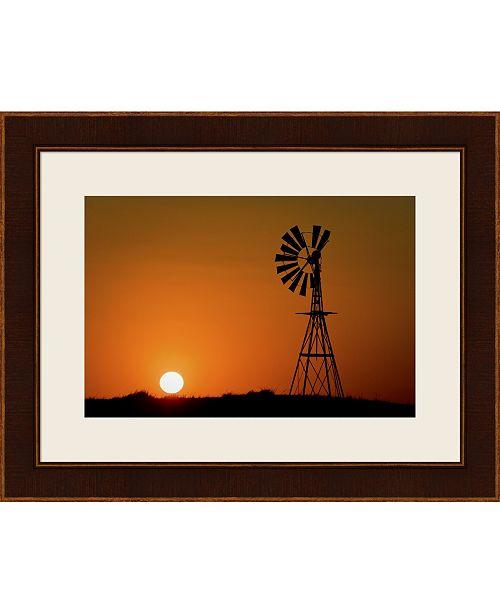 Metaverse Windmill 2 by Wayne Bradbury Photography Framed Art