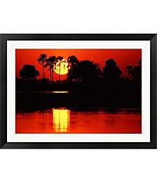 Tropical Sunset in N by Charles Sleicher / Danita Delimont Framed Art