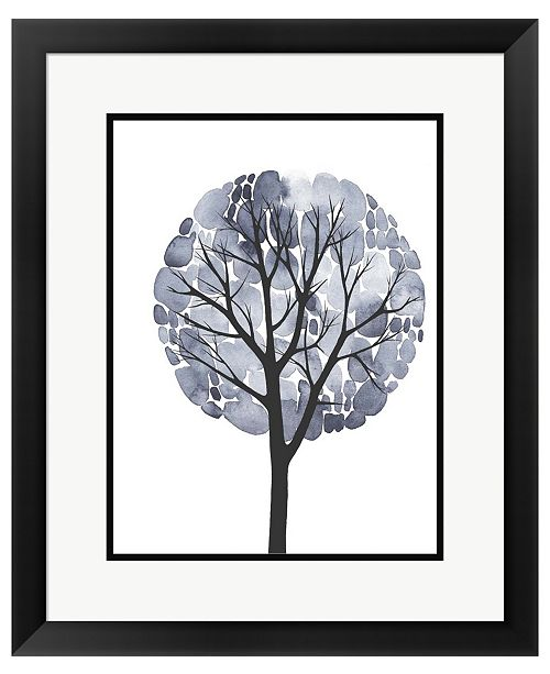 Metaverse Midnight Elm II by Grace Popp Framed Art