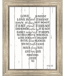 Love is Patient by Cindy Jacobs Framed Art