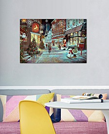 """Paris Christmas"" by Ruane Manning Gallery-Wrapped Canvas Print"