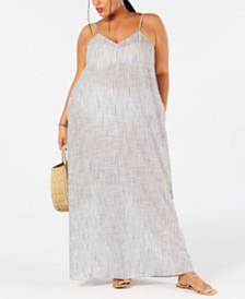 Raviya Plus Size Cotton Printed Maxi Dress Cover-Up