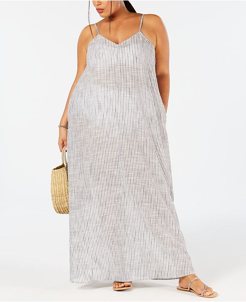 Raviya Plus Size Cotton Printed Maxi Dress Cover-Up ...