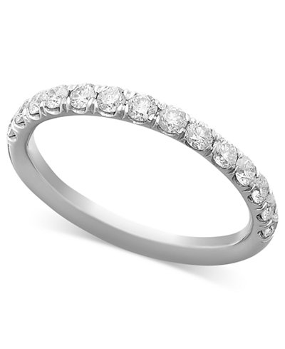 Pave Diamond Band Ring In 14k Gold Rose Or White 1
