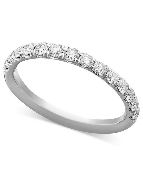 Macy's Pave Diamond Band Ring in 14k Gold, Rose Gold or White Gold (1/2 ct. t.w.)