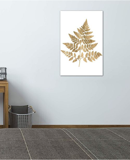 """iCanvas """"Graphic Gold Fern I"""" by Studio W Gallery-Wrapped Canvas Print (26 x 18 x 0.75)"""