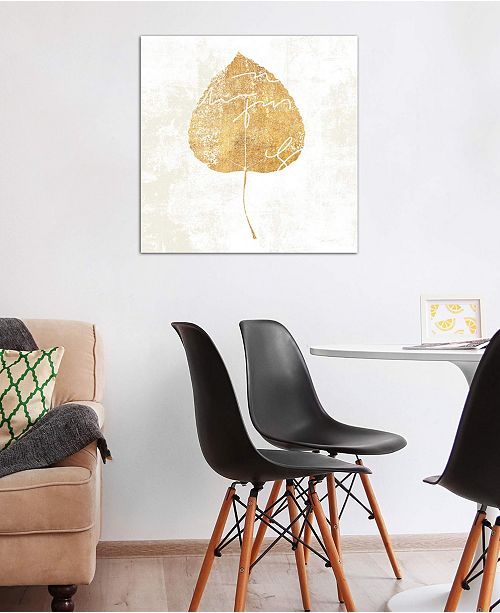 "iCanvas ""Bronzed Leaf II"" by Sue Schlabach Gallery-Wrapped Canvas Print (18 x 18 x 0.75)"